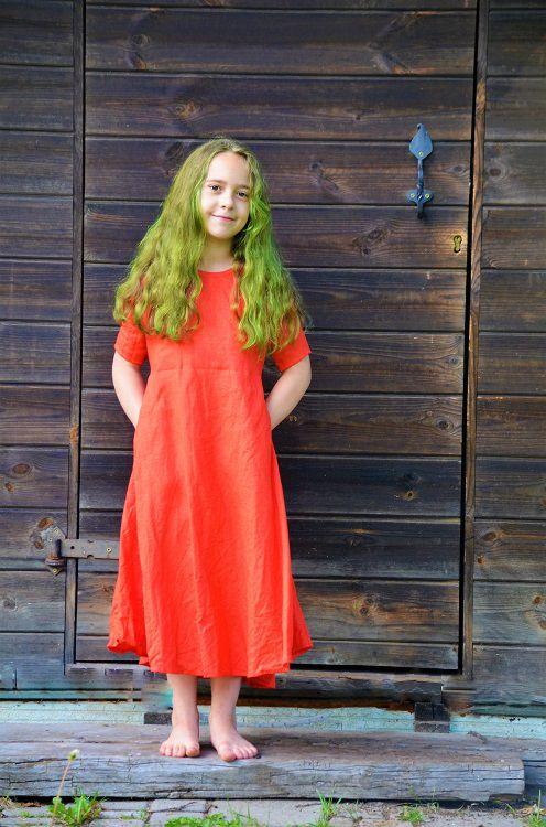 bērnu lina kleita, child dress